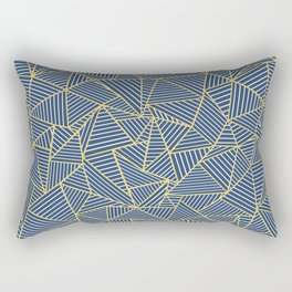 Ab Out Double R Navy Rectangular Pillow