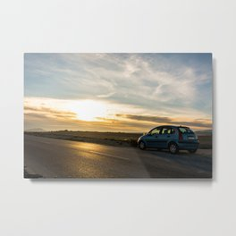 Drive away Metal Print