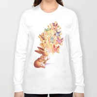 eevee Long Sleeve T-shirts featuring Eevee Used Swift by Katy Farina