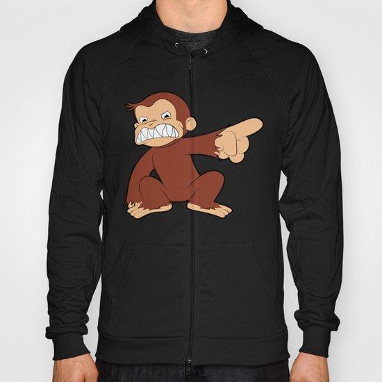 Furious George Funny Monkey Cartoon Animal Hoody