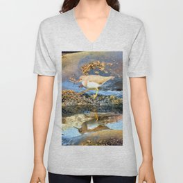 Walk Beside Still Waters Unisex V-Neck