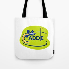 Caddie and Golfer Golf Course Icon Tote Bag