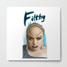 Divine Filthy Metal Print