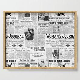 MAKING AMERICA GREAT - WOMEN'S SUFFRAGE Serving Tray