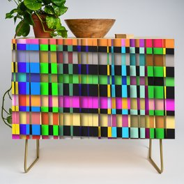 inclined coloured stripes with shadows Credenza