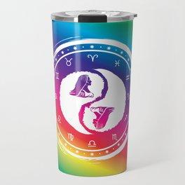 Virgo Yin Yang Sixth Zodiac Sign Travel Mug