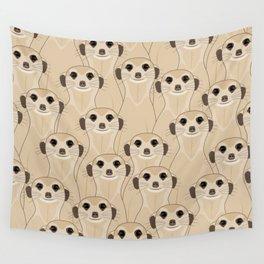 Meerkats Kalahari Desert Wall Tapestry