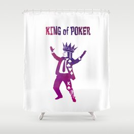 The King of Poker Shower Curtain