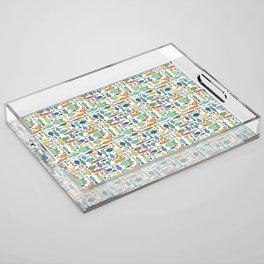 Retro Fish White Acrylic Tray