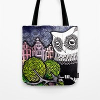 lonely Tote Bags featuring lonely by Burcak Kafadar