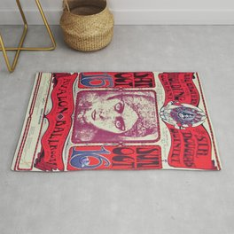 1966 Avalon Ballroom Big Brother and the Holding Company Vintage Concert Advertising Poster Rug
