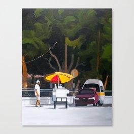 Sno-cone cart Canvas Print