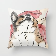 Charles Red Throw Pillow
