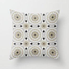 Colorful ethnic ornament . Throw Pillow