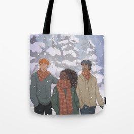 Golden Trio Tote Bag