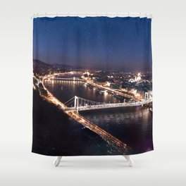 NIGHT TIME IN BUDAPEST Shower Curtain