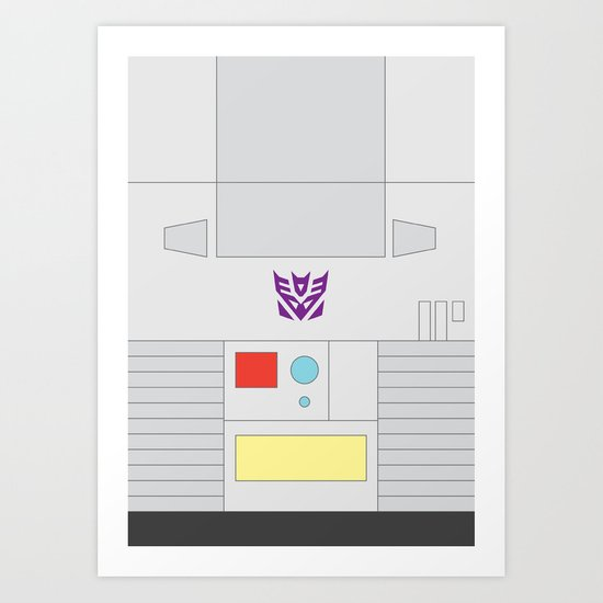 Megatron Minimalist Art Print
