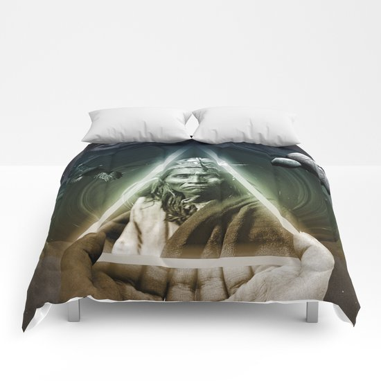 Dark Bubbles Comforters