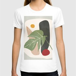 Abstract Monstera Leaf T-shirt