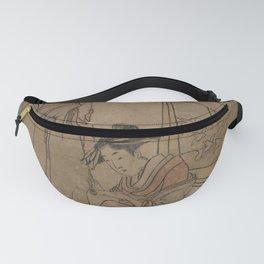 Japanese Art Print - Utamaro II - The Jewel River Chidori (1806) Fanny Pack