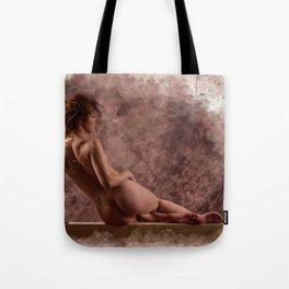 Nude woman watercolor vintage Tote Bag