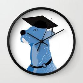 graduate dog Wall Clock