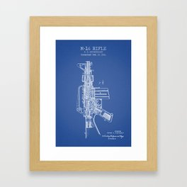 BM-16 rifle blue poster Framed Art Print