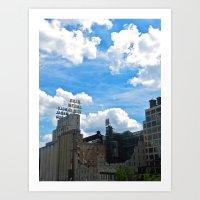 Minneapolis Ruins Art Print