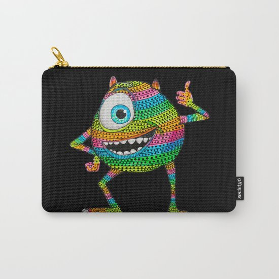 Mike Wazowski fan art by Luna Portnoi Carry-All Pouch