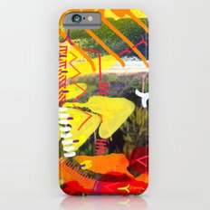 Wave yellow iPhone 6s Slim Case