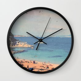 A Private Mallorcan Beach For All Of Us Wall Clock