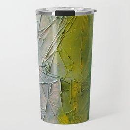 Tropicana Abstract Painting Textured Travel Mug