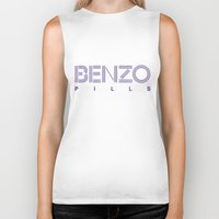 pills Biker Tanks featuring Benzo Pills by chobopop