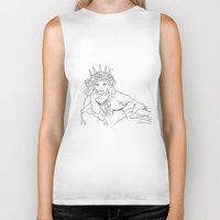 mucha Biker Tanks featuring Mucha Style by Crousticro