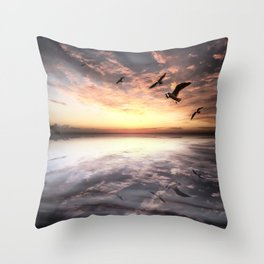Water and Heaven Throw Pillow