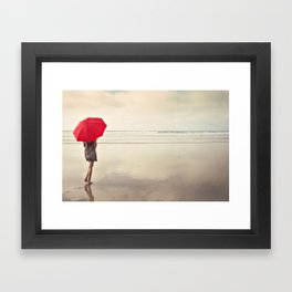 The Red Umbrella Framed Art Print