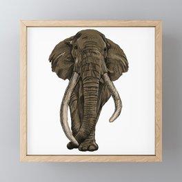 lovely elephant Framed Mini Art Print