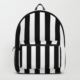 Stripes Black and White Vertical Backpack