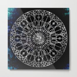 Rosette Window - Black Metal Print