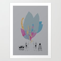 Feather People Art Print