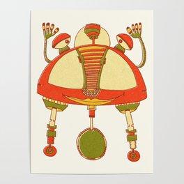 Robot Alien Monster No 030 Poster