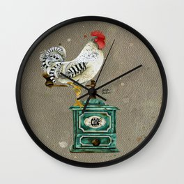 Rooster Wallace 2 Wall Clock