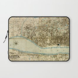 Map Of Calcutta 1857 Laptop Sleeve