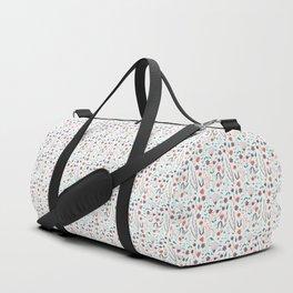 Cute floral tile Duffle Bag