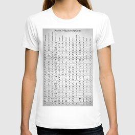 Ancient And Mystical Alphabets T-shirt