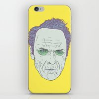 clint eastwood iPhone & iPod Skins featuring Clint Eastwood by Maciek Szczerba