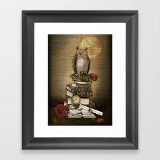 The Bibliophile - (the lover of books) Framed Art Print