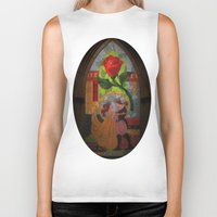 beauty and the beast Biker Tanks featuring Beauty and the Beast by Jillian Stanton