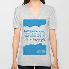 Entrepreneurship Quote Unisex V-Neck