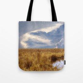 landscape 002: golden slumbers, big sky Tote Bag